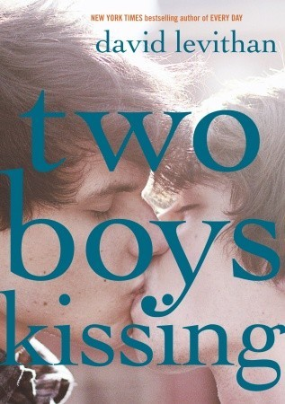 Two boys are in fact kissing