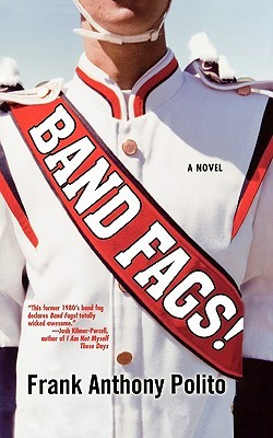A boy in a blue and red band uniform that reads Band Fags