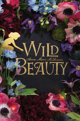 The title is encircled by a ring of flowers of all colors, and a gold silhouette of a girl crouching, arm stretched out toward the center of the circle