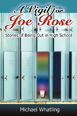 A series of school lockers, and in the center one opens up to a rainbow background and a single lit candle