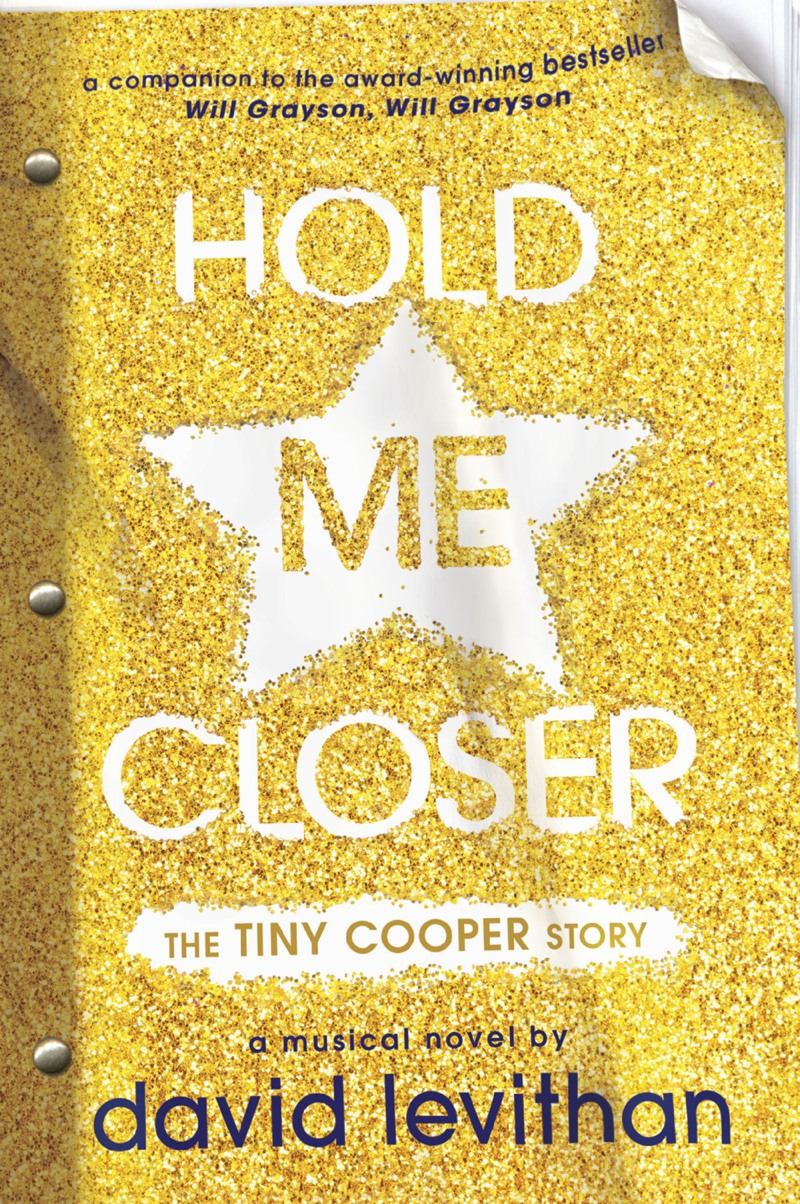 Cover is entirely gold glitter with a star around the 'me'