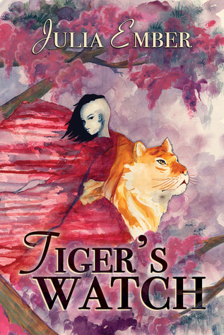 A watercolor image of a person melding with a tiger.