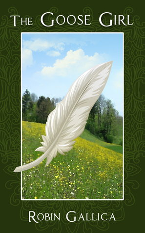 A white bird feather on a pastoral background