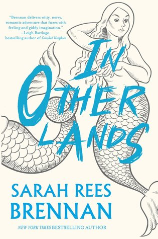 The title in blue overlies a pen and ink drawing of a mermaid with long hair and her arm behind her head.  The bottom half of another merperson is next to her.