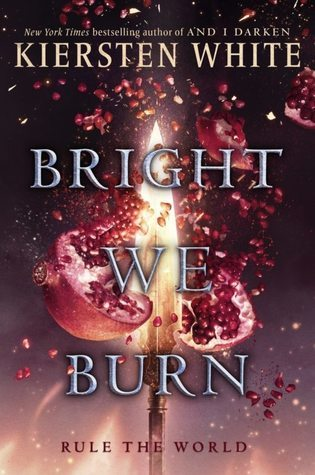 Book cover showing burning exploding pomegranate.