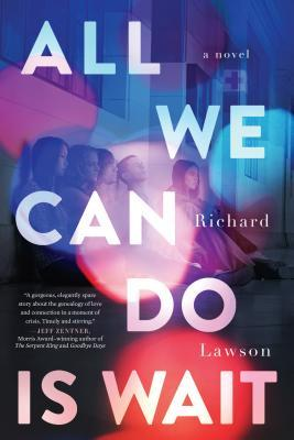 Book cover showing teens sitting in hospital waiting room and emergency vehicle lights.