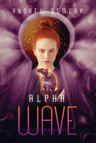 Book cover showing red-haired woman with rat visible through keyhole.