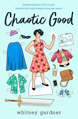 Book cover showing a paper doll with accessories.
