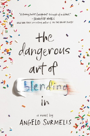 Book cover showing candy sprinkles on white background.