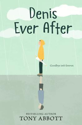 Book cover showing boy in hooded yellow jacket standing in the rain.