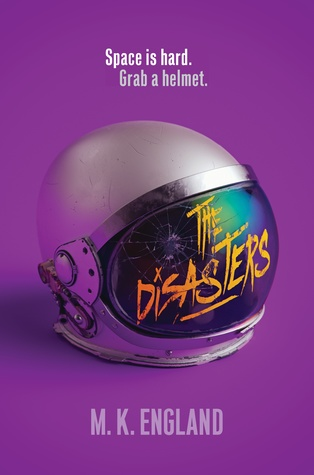 Book cover showing a damaged astronaut's helmet.