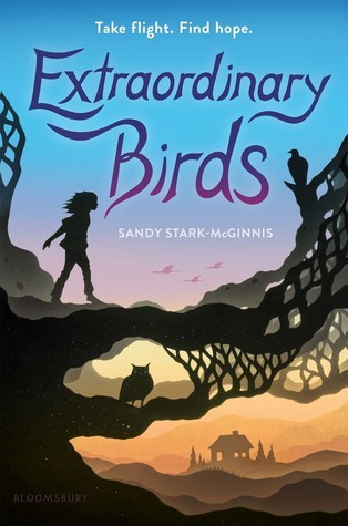 Book cover showing silhouette of a girl walking out onto a tree branch.