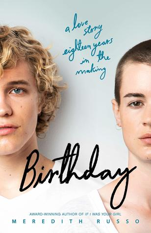 Book cover showing two characters, one with blonde curly hair and the other with closely cropped hair.