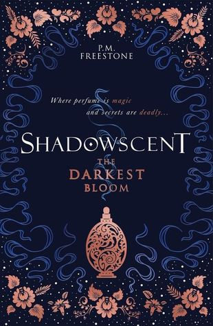 Book cover showing a decorative bottle with a scent emerging.