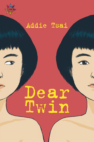 Book cover showing two identical girls.