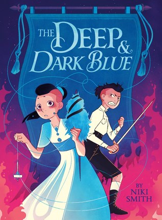 Book cover showing two characters, one with a spear and the other in a dress.