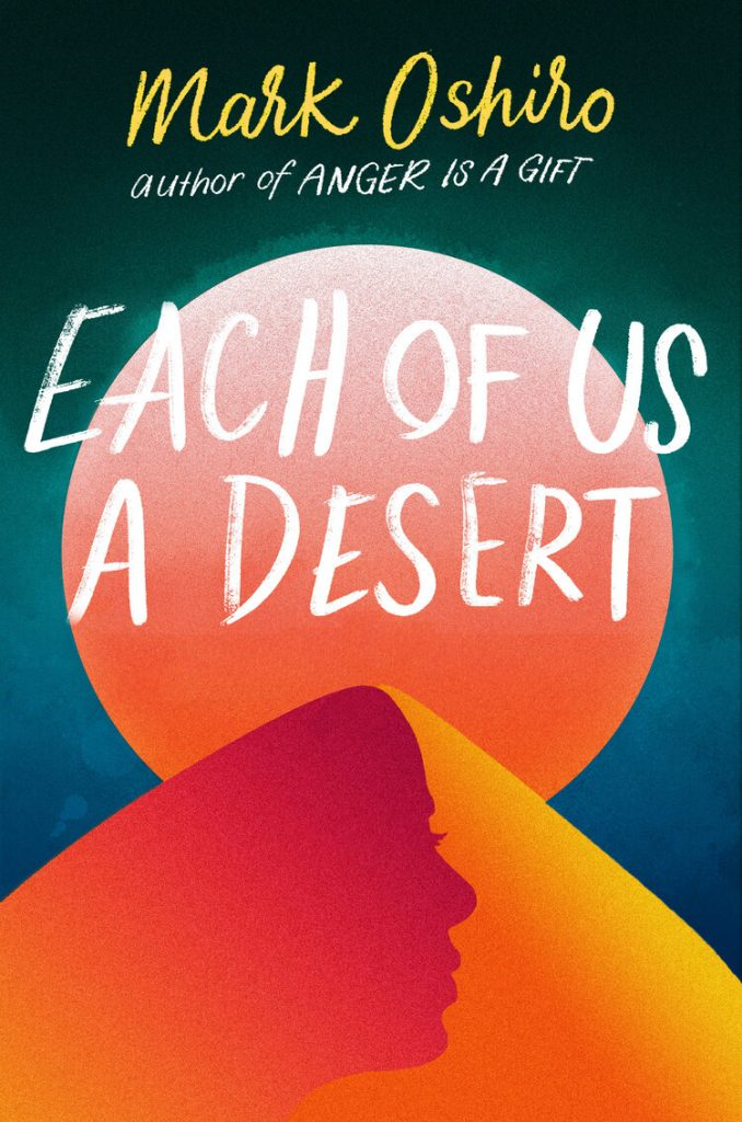 Book cover showing a sandy dune under a moon.
