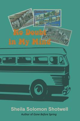 Book cover showing a bus and souvenir postcards.