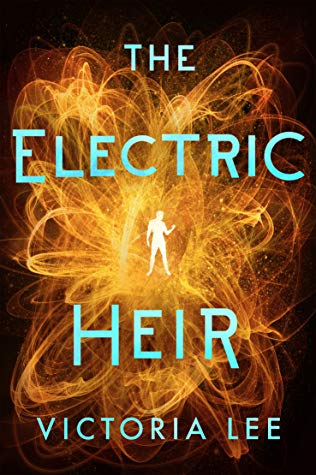 Book cover showing electric swirls around a figure.