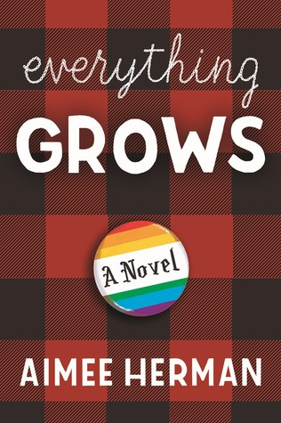 Book cover showing a rainbow pin on a plaid background.