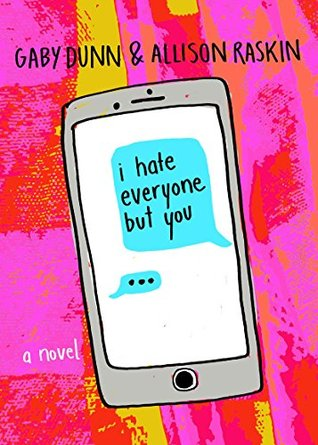 Book cover showing texts on phone.
