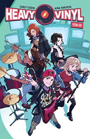 Book cover showing a girl band performing.