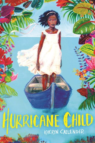 Book cover showing a girl in a boat surrounded by flowers.