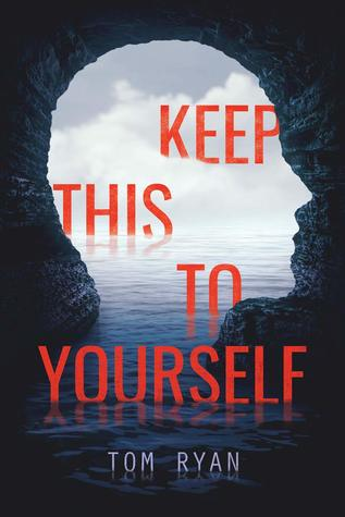 Book cover showing a cave opening shaped like a human head, against the sea.