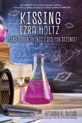 Book cover showing an Erlenmeyer flask for chemistry and doodles on a chalboard.