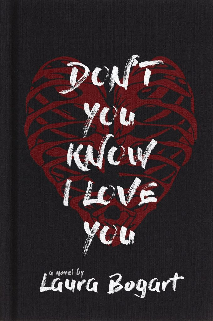Book cover showing a rib cage in the shape of a heart.
