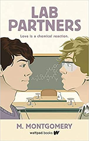 Book cover showing two boys in a chemistry class, facing each other.