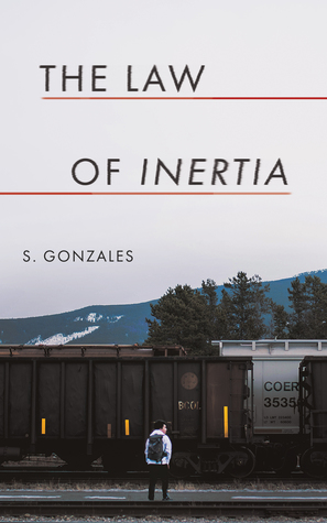 Book cover showing figure with backpack watching a train.