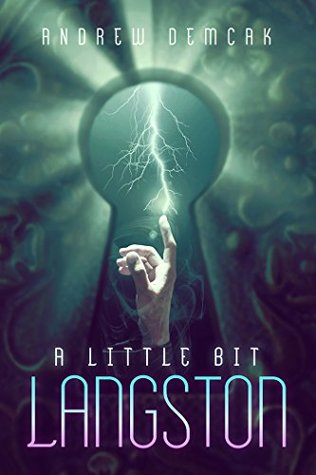 Book cover showing a finger touching lightning, seen through a keyhole.