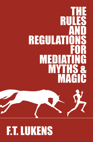 Book cover showing a figure running from a charging unicorn.