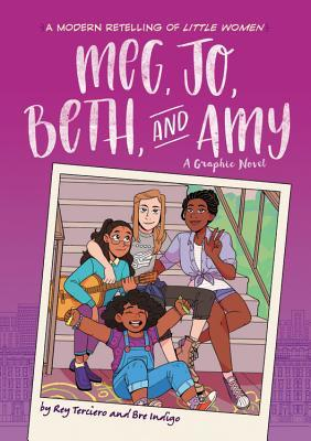 Book cover showing a diverse group of girls posing on stairs.