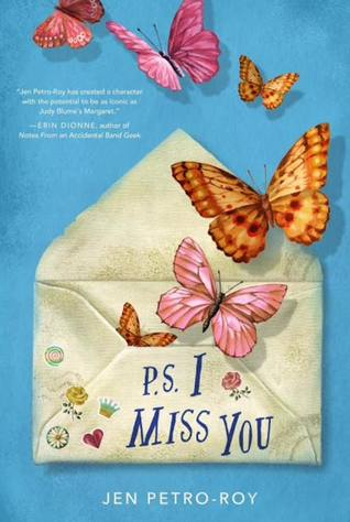 Book cover showing butterflies emerging from an envelope.