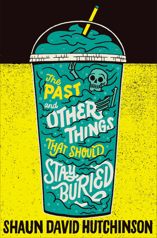 Book cover showing an Icee with bones mixed in.