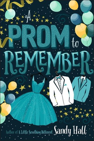 Book cover showing prom clothing and decorations.