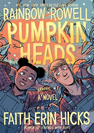 Book cover showing two characters in overalls in a pumpkin patch.