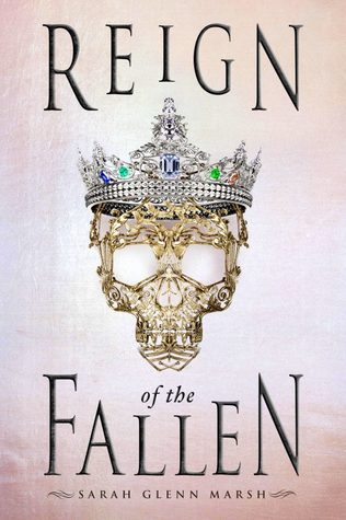 Book cover showing a jeweled crown on an ornate gold skull.