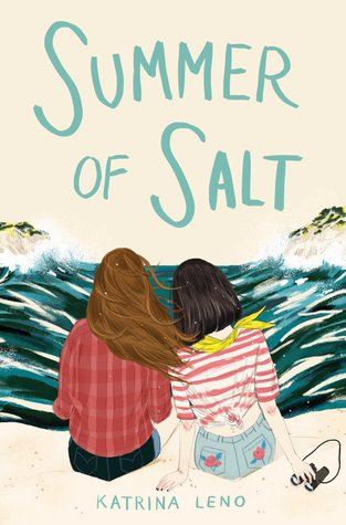 Book cover showing two girls sitting by the sea.