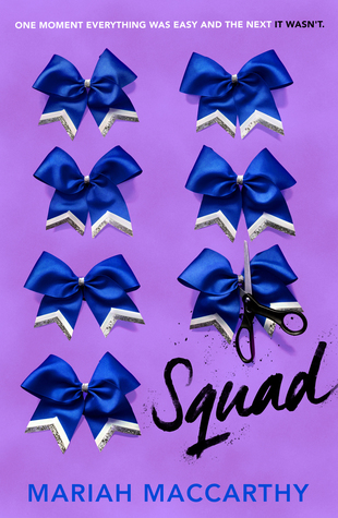 Book cover showing multiple decorative blue bows, scissors cutting one.