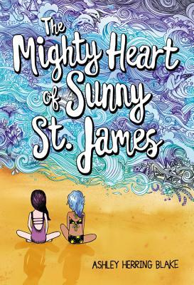 Book cover showing two drawn girls sitting on a beach.