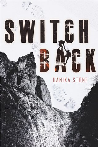 Book cover showing cliffs, and silhouettes of one person helping another up a steep incline.