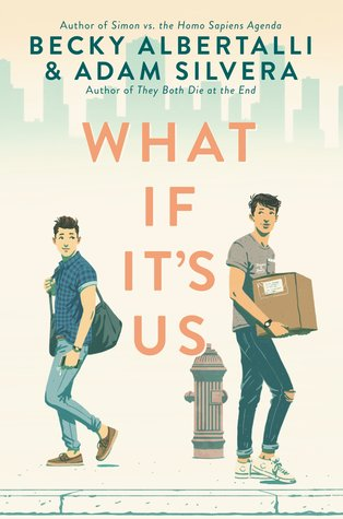 Book cover showing two guys on a sidewalk, one with a box.