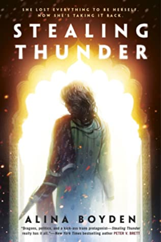 Book cover showing a figure standing in a fiery doorway.