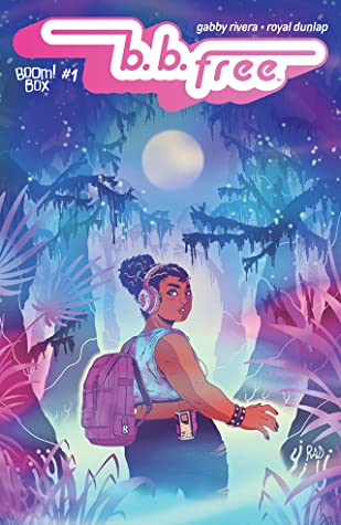 Book cover showing a girl with headphones on in the forest.