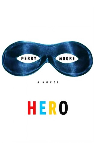 A domino mask above the word HERO spelled with differnet colors, red, blue, yellow, and black