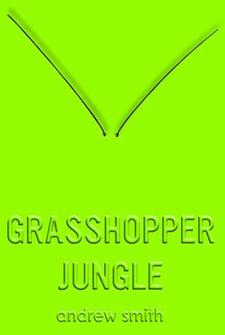The cover is entirely lime green with two grasshopper antenna in a v shape.
