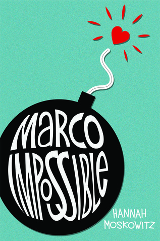 A cartoon bomb reads Marco Impossible and its fuse is lit with a heart